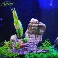 Akvaryum Yeni Şekil Akvaryum Fish Tank Dekor Süs Hava Kabarcığı Taş Balık Tankı Oyuncak