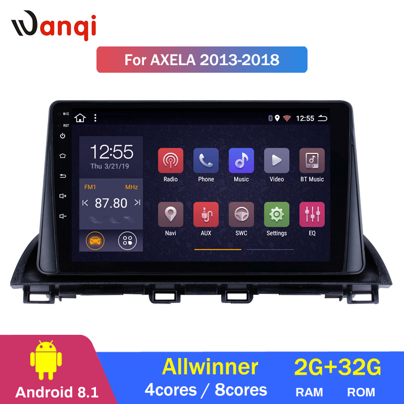 2G RAM 32G ROM 9 inch Android 8.1 HD Touchscreen GPS Navigation system for 2014 2015 Mazda 3 Axela