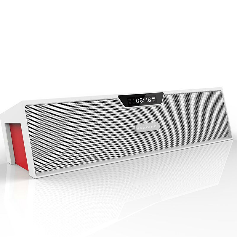 Sardine Outdoors Bluetooth Speaker LED Soundbar Portable Wireless Loudspeaker FM radio subwoofer column With USB For Computer sardine b1 portable led display wireless bluetooth hands free stereo speaker subwoofer sound box music player with mic fm radio