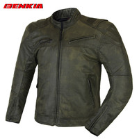 BENKIA JS17 Motorcycle Jackets Vintage Riding Jacket Medieval Retro Style Moto Jacket Blouson Moto Summer Jackets Men