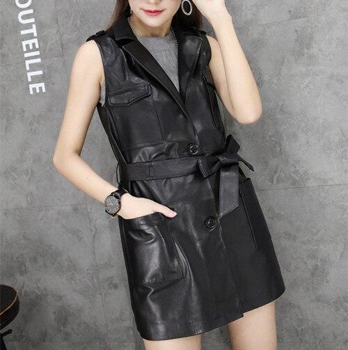 Новое поступление Для женщин сезон: весна–лето модные черные Цвет ремень Искусственная Кожа Жилет Бесплатная доставка KTR-025