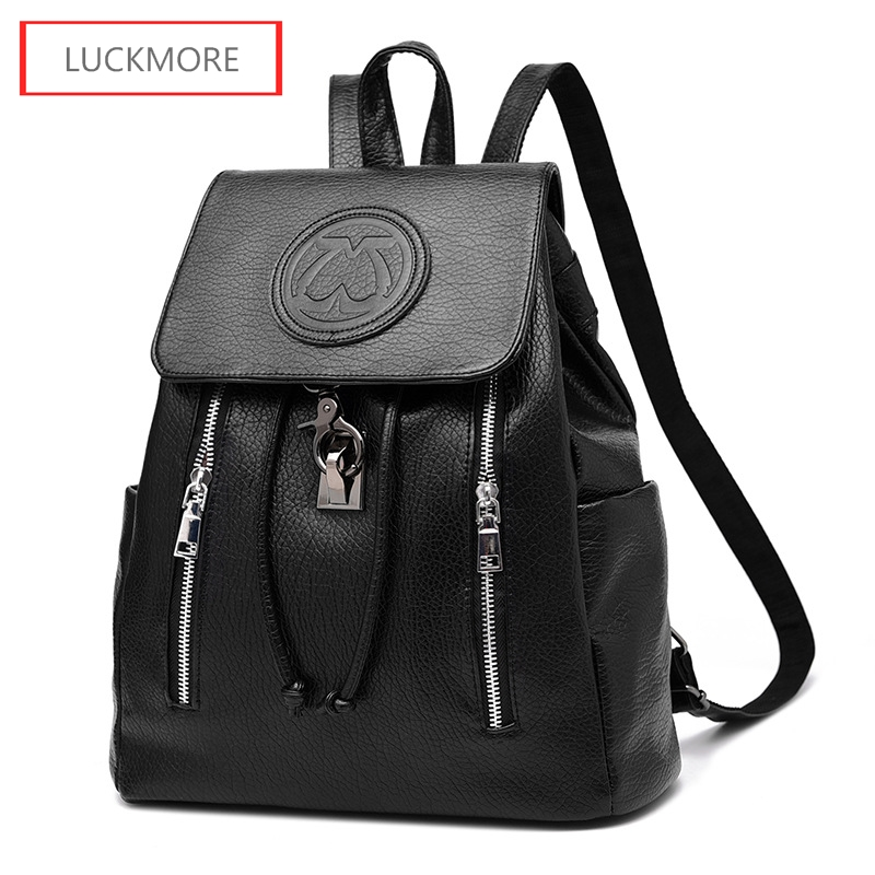 2016 Fashion Design PU Leather Women Bag Casual School Bags For Teenagers Girls High Quality Female Travel Back Packs