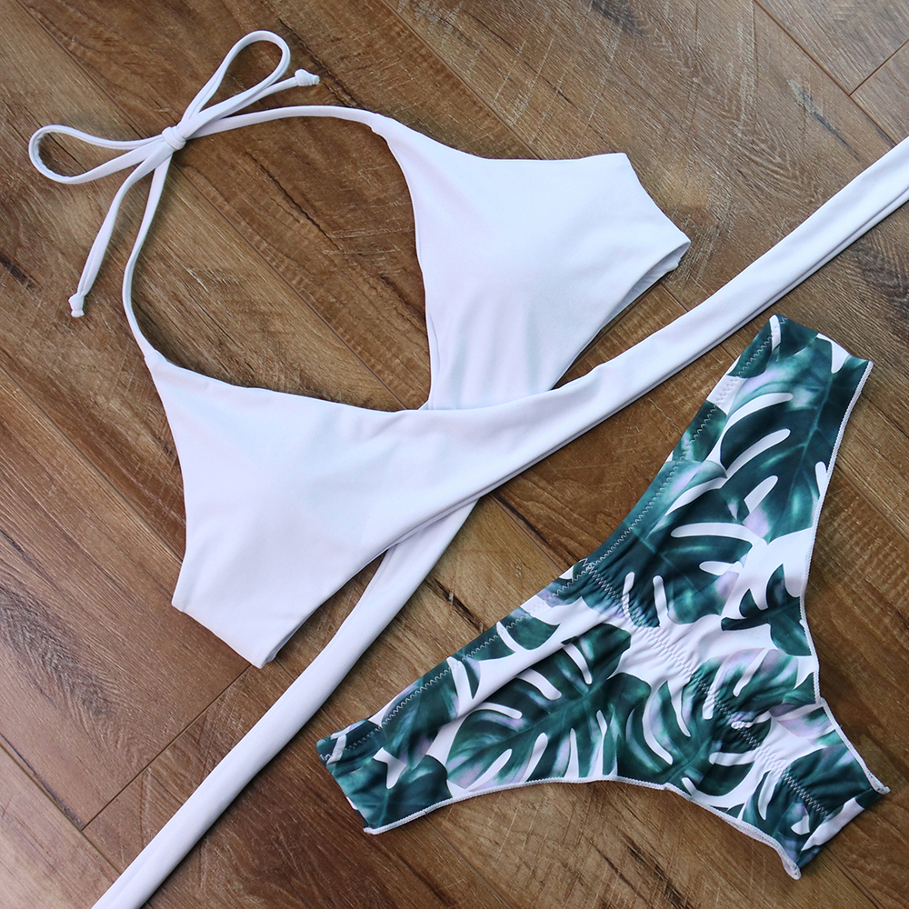 Bikinis Sexy Cross Bandage Swimwear Women Adjustable Bikini Set Swimsuit  Bathing Suit Push Up Biquinis Women's Swimming Suit  3