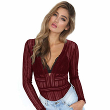 2019 spring new sexy lace jumpsuit shirt womens multi-color optional free shipping