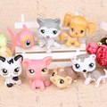 7pcs/set LPS littlest pet shop ornaments decorative children toys Doll ornaments vinyl doll 5cm children toys for gift