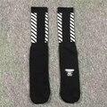 Off White Socks Justin Bieber Long Mens Women Skateboard Socks 2017 New Brand Striped tie dye socks Men Hip Hop Compression