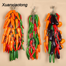Xuanxiaotong Artificial Vegetables Eggplant Tomato Carrot Potato Pumpkin Chili Cucumber Diy Craft Home Party Wedding Decoration