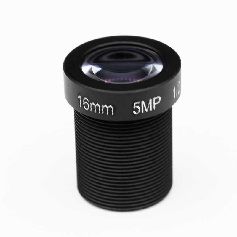 """HD 5mp 16 мм инфракрасные Объективы для систем охранного видеонаблюдения доска 1/2. 5 """"M12x0.5 посмотреть на глубину до 50 м расстояние 27 градусов угол MTV фиксированный для ip-камера видеонаблюдения с поддержкой Wi Камера"""