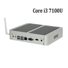 2017 mini pc 4 ГБ ram 7100u i3 mini pc windows 10 2.4 ГГц HDMI + VGA 4 К Поддержка сенсорный Экран Мини-Компьютер HTPC linux 4 К