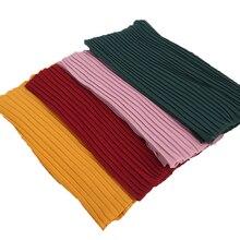 1 шт. простой шарф из шифона с пузырьками, длинные шарфы в полоску, хиджаб, мятой, пашмиан, мусульманские шарфы/шарф