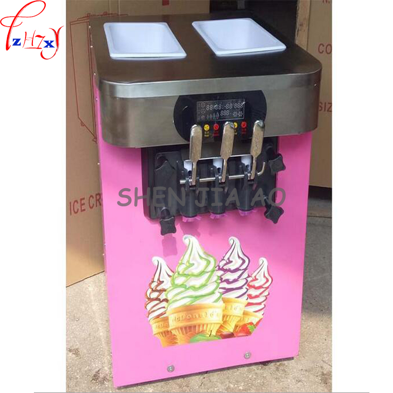 Commercial Soft Ice Cream Machine HS-18X Sweet Ice Cream Maker 18L/h Ice Cream Maker 3 Flavors Ice Cream Making 110V/ 220V 1PC