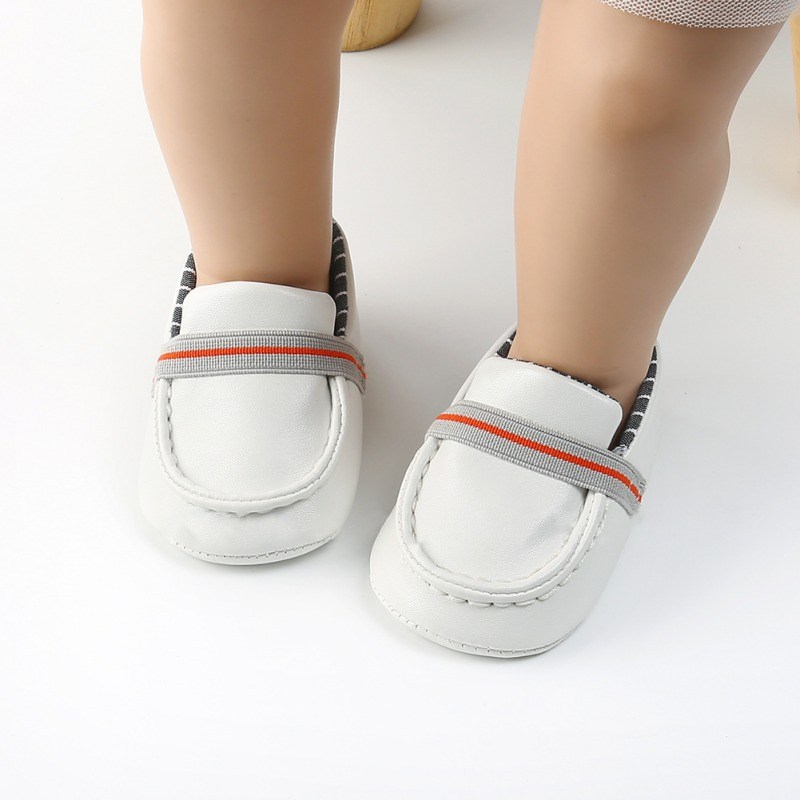 Newborn Shoes For Girls Boys Checkered PU Toddler Shoes First Walkers Baby Girl Soft Peas Shoes Baby Footwear