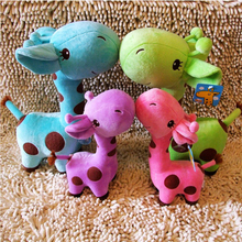 Lovely Cute Little Deer Plus Fat Giraffe Stuffed Plush Toy Animal Doll For Children Kids Soft Toys Gift Five Color 18cm