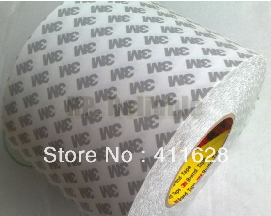 1x 61mm width, 50 meters length 3M9080 High Performance Non woven Double Coated Adhesive Tape for Electrical Nameplate Display