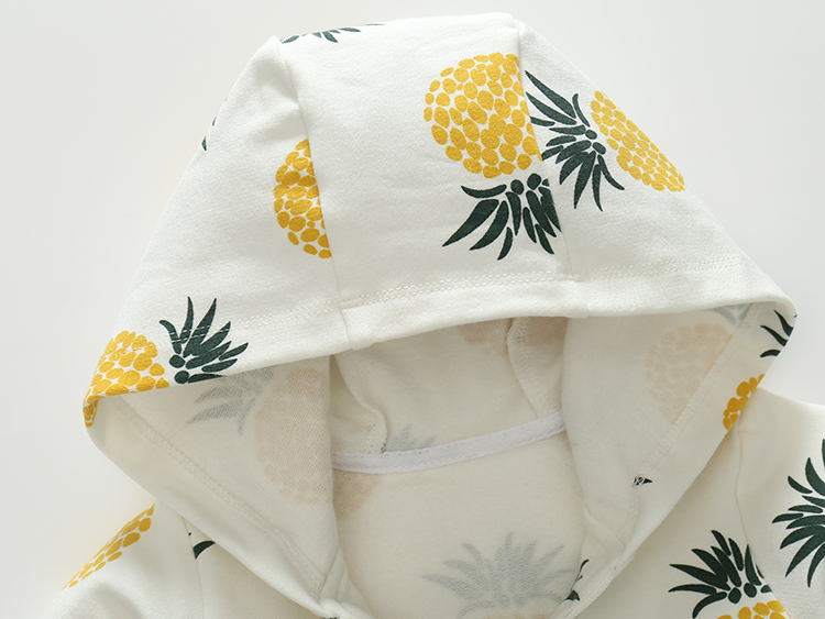 Cotton-Pineapple-Printed-ChildrenS-Clothing-Hooded-Sweatershirt-3-Months-2-Year-1