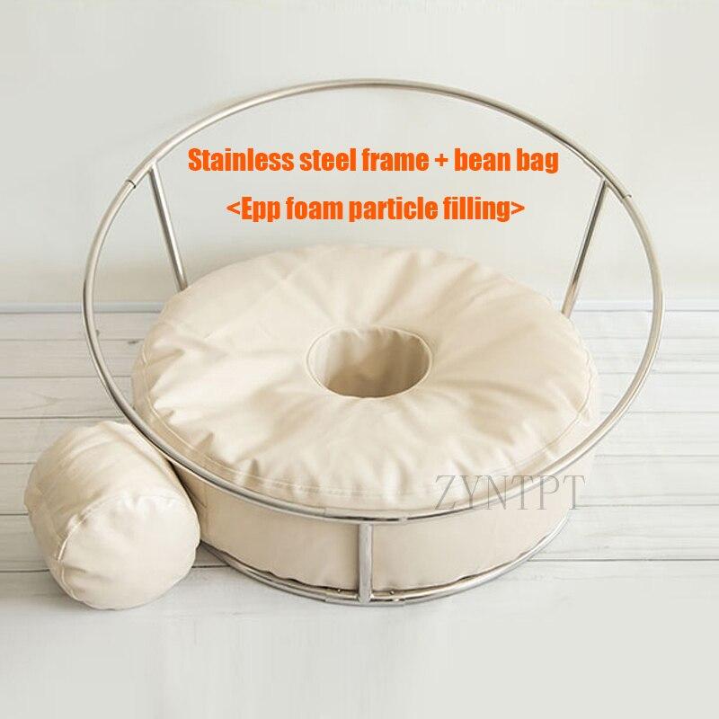 Pose beignet sac de haricot toile de fond Stand Photo Shoot pour nouveau-né photographie accessoires bébé Photoshoot pouf Fotografia accessoires