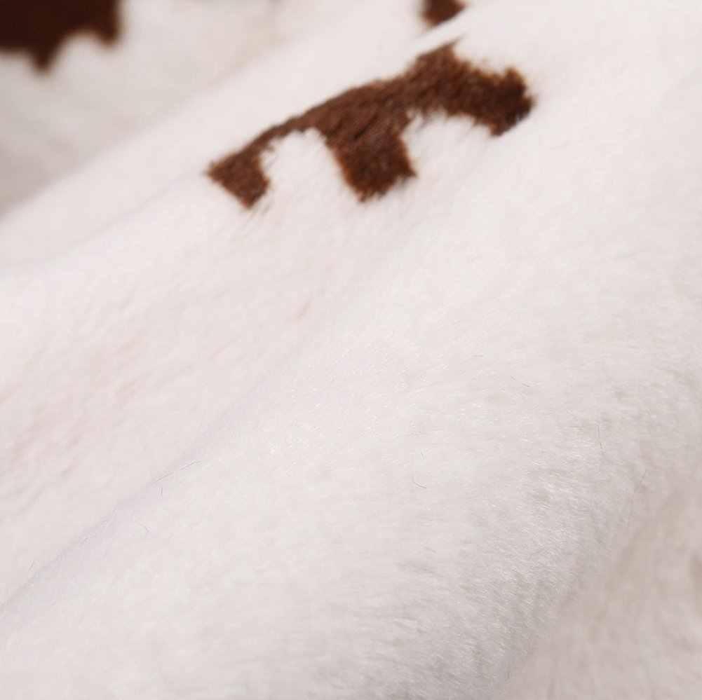 MustHome Faux Fur Tappetini Marrone Faux Pelle Bovina Tappetini Occidentale Cowboy Mucca Stampa Della Pelle Della Pelliccia Zona Tappeto per Living Room 140x160 centimetri