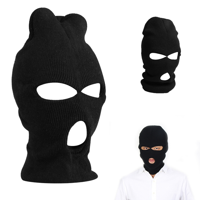 1PC Face Shield Beanie Cap Snow Winter Warm 3 Hole Ski Mask Balaclava Black  Knit Hat d387d9bca