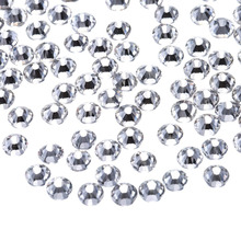 ФОТО 5a 2880pcs clear crystal rhinestones for nails white 3d nail art decoration ss3-ss40 silver flatback rhinestones glitter gems