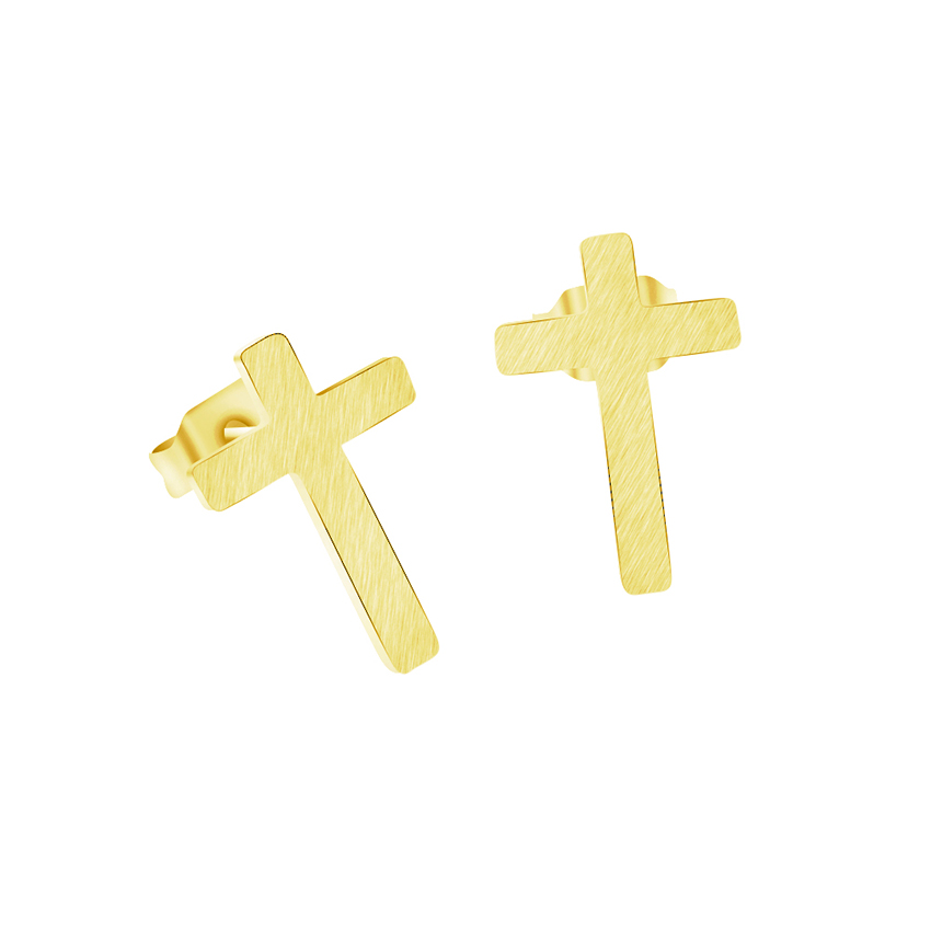 V Attract Classic RVS Christian Cross Oorbellen Dames Religies - Mode-sieraden
