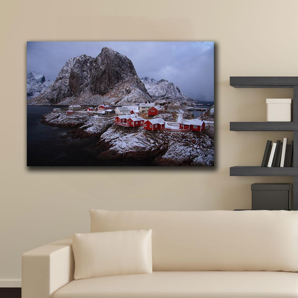 "12/""x18/""Norway Nature Mountain Home Decor Room HD Canva Print Wall Art Painting"