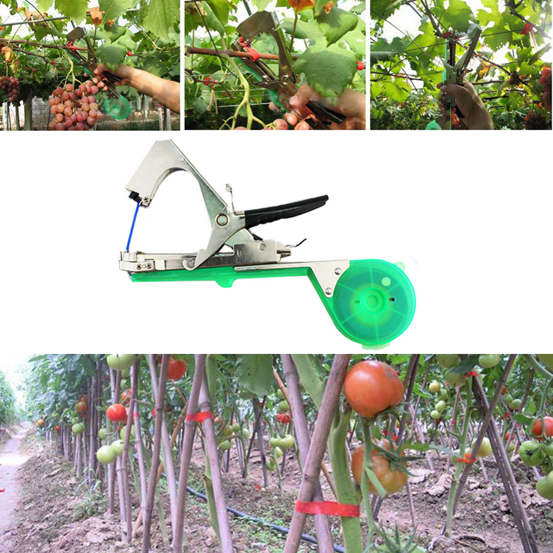 Plant Tying Tapetool Tapener Machine Garden Tools Vegetable Fruit Flower Binding Machine Stem Strapping Tape