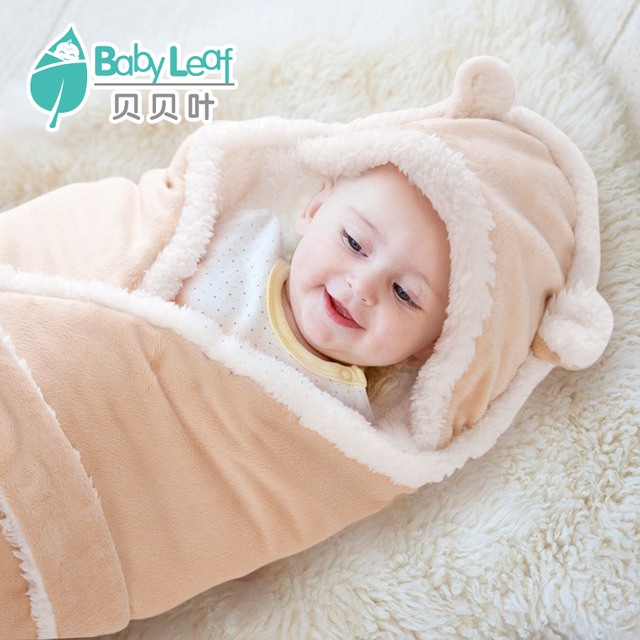 Warm fittness newborn props blanket thickening baby blankets infant  swaddling autumn and winter sleeping bags cobertor fd2e42d67