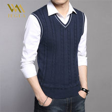 Mens Sweaters Autumn Winter Jacket Men Warm Pullovers Sleeveless O Neck Knitted Vest Femme Elegant Casual Sweater Vests(China)