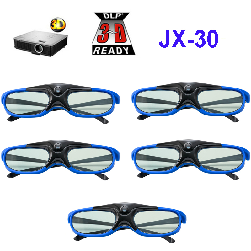 5pcs lot Active Shutter 96HZ 120HZ 144HZ Rechargeable 3D Glasses For Xgimi Z3 Z4 H1 H2