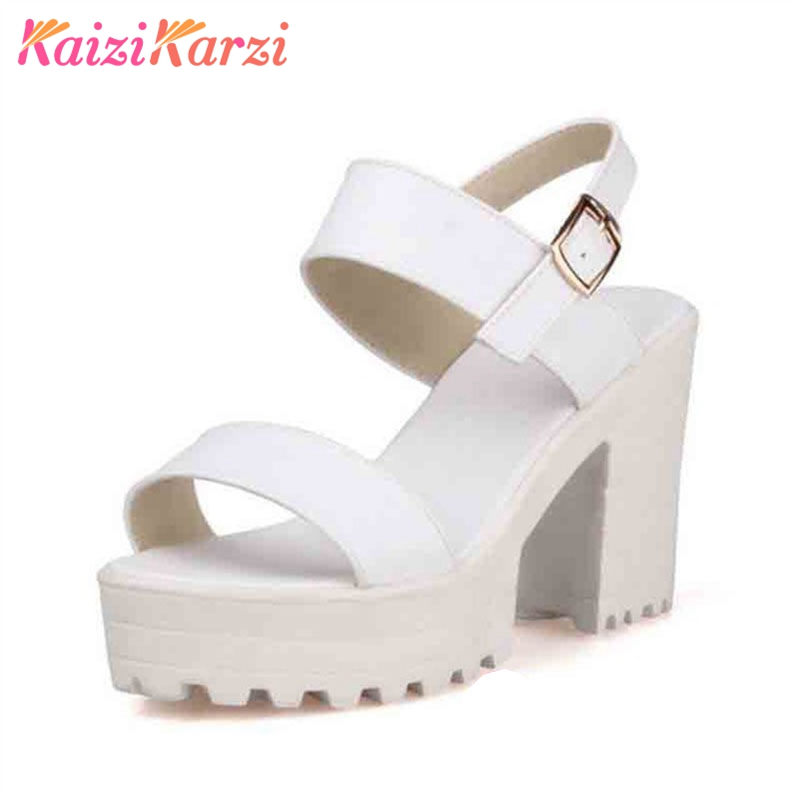 Plataforma Correa De Kaizikarzi 43 blanco Tacones Moda 33 Tamaño Tobillo  Alto Negro Calzado Sandalias Zapatos Verano Mujer Gruesos Mujeres Tacón  EE0p7 0aef14fa3a0a
