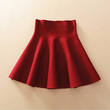 QUEENRAAN High Waist Knitted Short Skirt