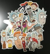 35Pcs lot Drama Rick and Morty 2017 Stickers Decal For Snowboard Laptop Luggage Car Fridge DIY
