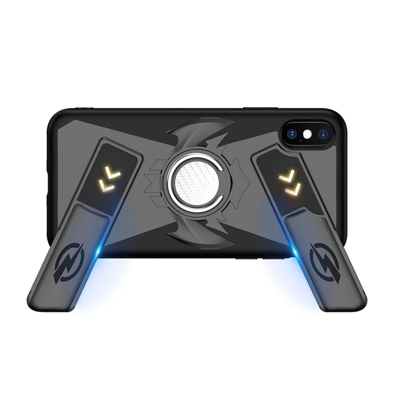 2018New Multifunction Game pad Handle Phone Cases For iphone X 8 7 6 6S Plus Cover Shockproof Case + Finger Ring Kickstand
