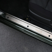 MOPAI Stainless Steel Buckle Style Car Interior Protect Door Sill Guards Scuff Plate Sticker For Suzuki