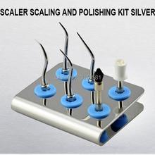 1 set KASPKS scaler scaling and polishing kit silver Dental Care Tooth Brush oral hygiene Oral care dental hygiene Kit for KAVO