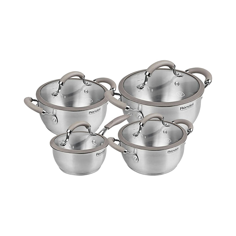 Cookware Sets Rondell Balance RDS-756 pot lid Cookware for kitchen Casserole Dinnerware tableware bpa free healthy white portable microwave steamer with lid plastic cooking tools food cookware storage boxes 21 1x18 3x11cm