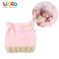 Hand Crochet Knitted Baby Hat Photography Photo Prop Newborn Knitting Hats 0 3 Months Crown Hat
