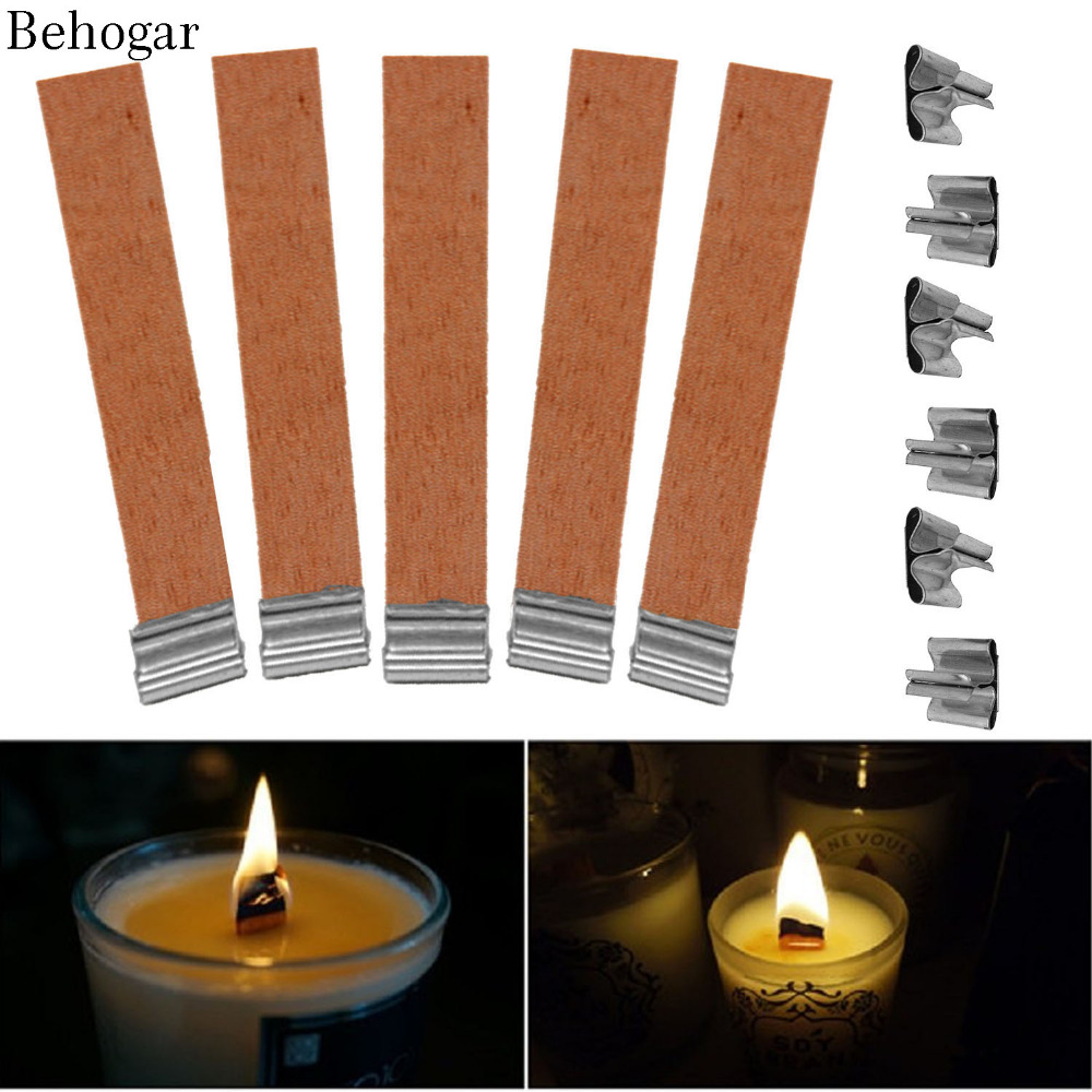 Wood Candle Wicks Diy: 50PCS 12.5 X 75mm Wood Candle Wicks Accessories Supplies