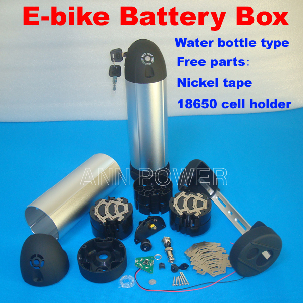 Electric bicycle battery case Water bottle type e bike battery box For 36V 10A battery pack