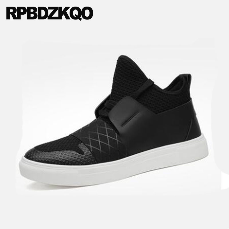 Luxury Lace Up Comfortable Sneakers Mesh Thick Soled Booties Black Designer Shoes Men High Quality Top Platform Boots Trainer цены онлайн