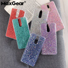 Luxury Silicone Bling Glitter Crystal Sequins Cover For huawei Mate 10 20 Pro Lite Y6 Y9 2018 Honor 8 9 10Lite V10 8X Phone Case(China)