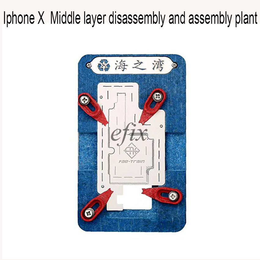 Newest For iphone X Mainboard IC Chip Location fixed fixture BGA Repair planting Fixture suit Plant tin stencil logic board planting tin fixture with solder paste bga stencil for iphone x motherboard bga reballing stencil repair tools