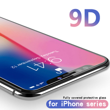 9D Full Cover Edge Tempered Glass For iPhone 8 7 6S X S Plus Screen Protector for XS Protection Film