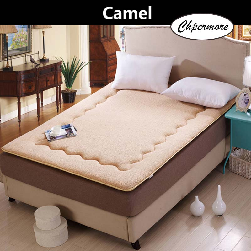Chpermore Foldable Lamb Cashmere Mattress Thicken Warm Tatami Single Double Foldable Mattresses Bedspreads King Queen Twin Size