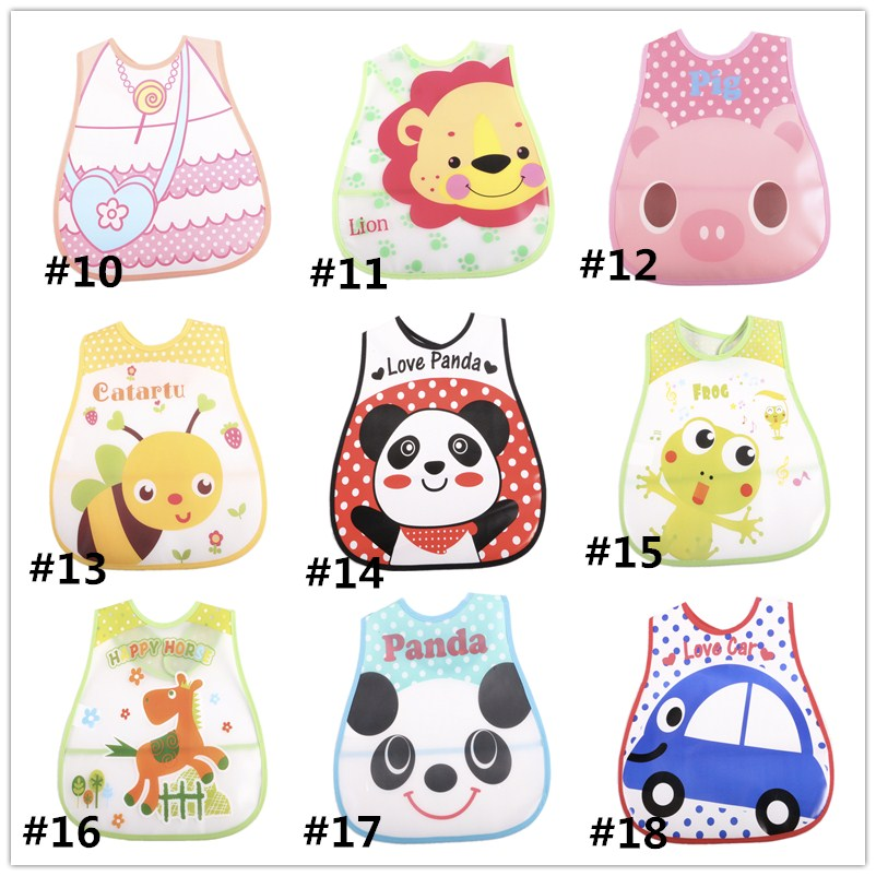 Cartoon Baby Bibs Waterproof Newborn Bandanas Feeding Baby Burp Cloths Girls Boys Saliva Towel Print Apron