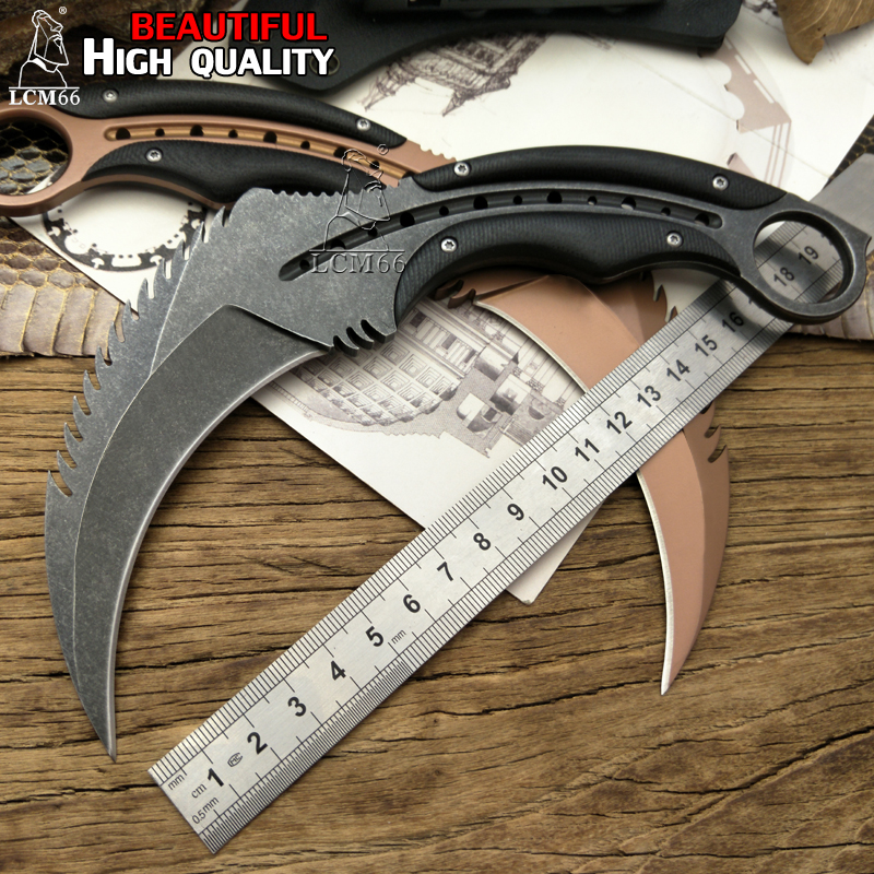 LCM66 karambit scorpion claw knife outdoor camping jungle survival battle  Fixed blade hunting knives self defense cs tool straight knife tool the outdoor one doomsday boar claws scorpion claw knife lifesaving claw knife