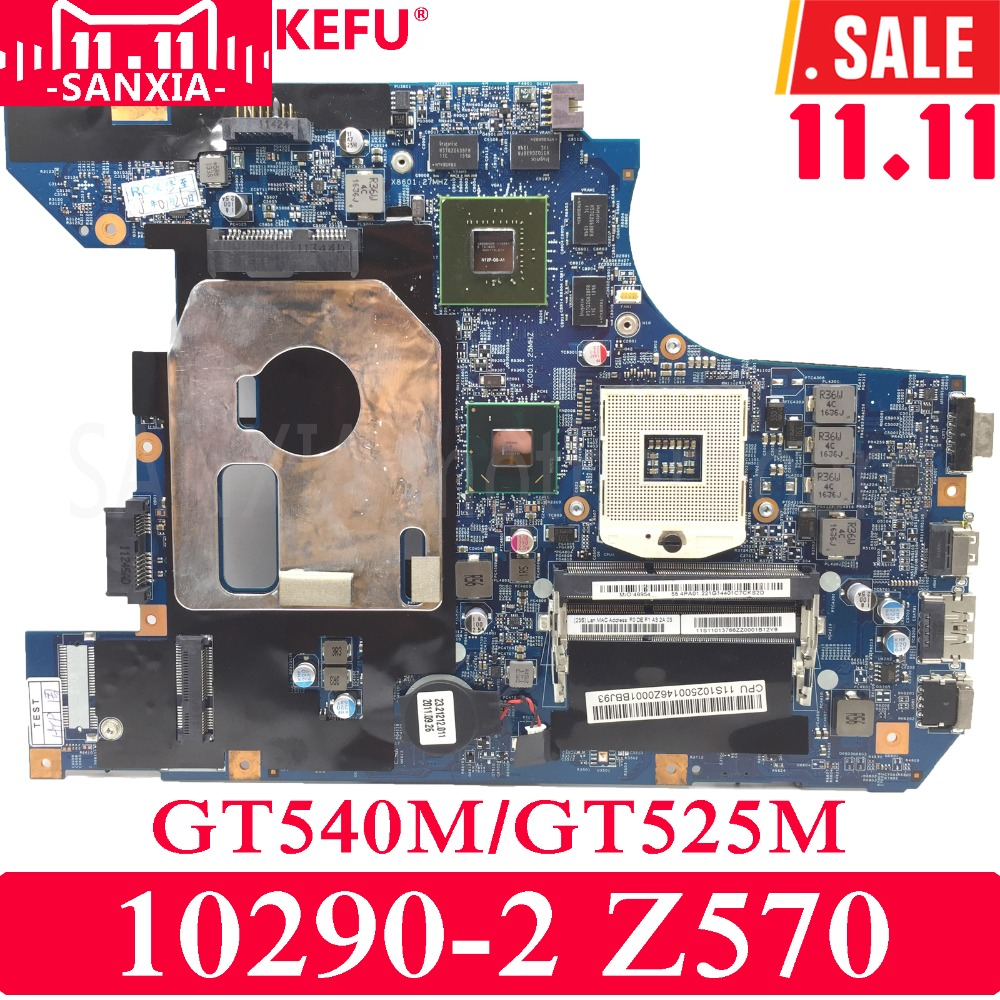 KEFU 10290-2 48.4PA01.041 LZ57 MB Laptop motherboard for Lenovo Z570 Test original mainboard GT540M/GT525M купить недорого в Москве
