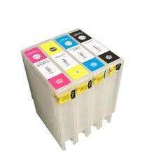 Vilaxh refill T7551 T7554 Refillable Ink Cartridge For Epson Workforce Pro WF-8010 WF-8090 WF-8510 WF-8590 Printer