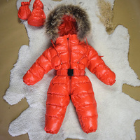 Kindstraum 2017 New High Quality Baby Winter Duck Down Rompers Thick Snowsuit Coat Warm Cloth Kids Jumpsuit Baby Outerwear,MC834