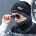 2pcs/lot Winter Knitting Woolen Hat scarf sets for Unisex Men Warm Beanie Hats Women's neck warmer caps gift for man ZXM-JY-118